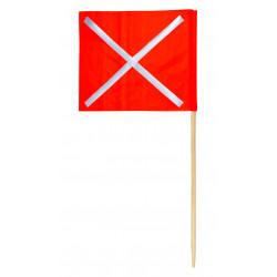 Fanion de signalisation type K1 avec croix rétroréfléchissante