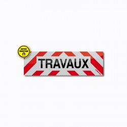 Bandeau TRAVAUX magnétique 50 x 15 cm