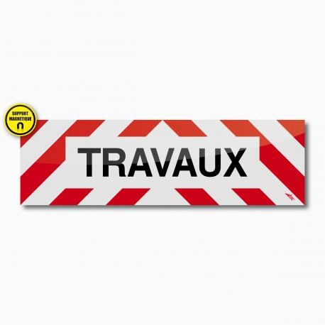 Bandeau TRAVAUX magnétique 100 x 30 cm
