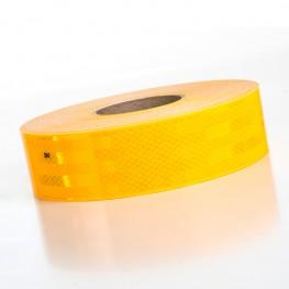 Bande prismatique jaune mi-fluo